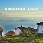幻想風景、夕暮れに染まる世界遺産オフリド湖 ~東欧マケドニア~
