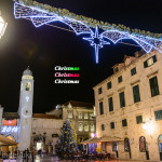 世界遺産ドゥブロヴニクの控えめクリスマスイルミネーション ~東欧クロアチア~