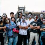 メキシコの祭り「死者の日」日本人のフェイスペイント集。密着撮影してみた。【4K映像あり】~メキシコシティ~